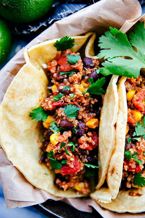 Crock Pot Mexican Quinoa Tacos
