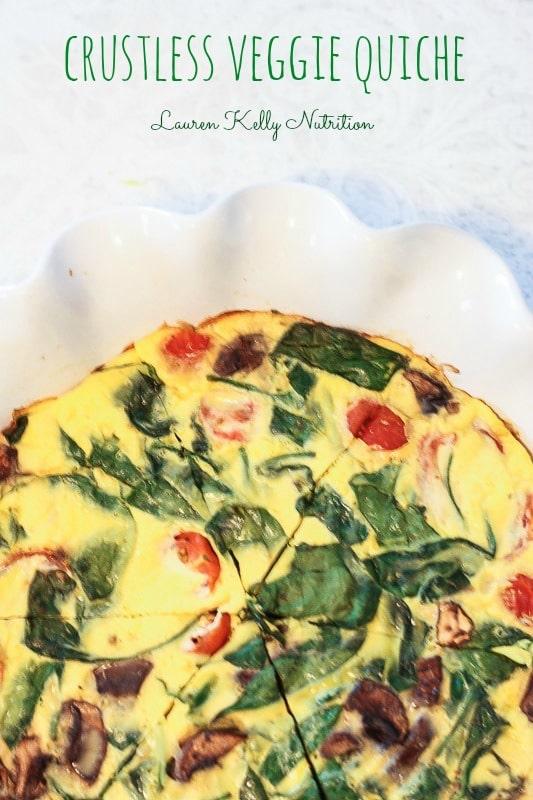 Veggie Crustless Quiche from Lauren Kelly Nutrition