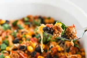This Healthy Mexican Casserole is my favorite, easy meal. It's gluten free, delicious and is ready in 30 minutes!