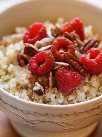 Mix up your breakfast routine with Breakfast QUINOA! It's healthy, gluten-free and packed with protein!
