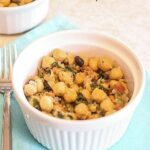 Chickpea (Garbanzo Bean) Salad with Spinach