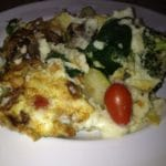 Roasted Veggie Egg Scramble…great way to use leftover roasted vegetables!