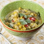 Roasted Poblano Pepper Corn Chowder from Knead to Cook