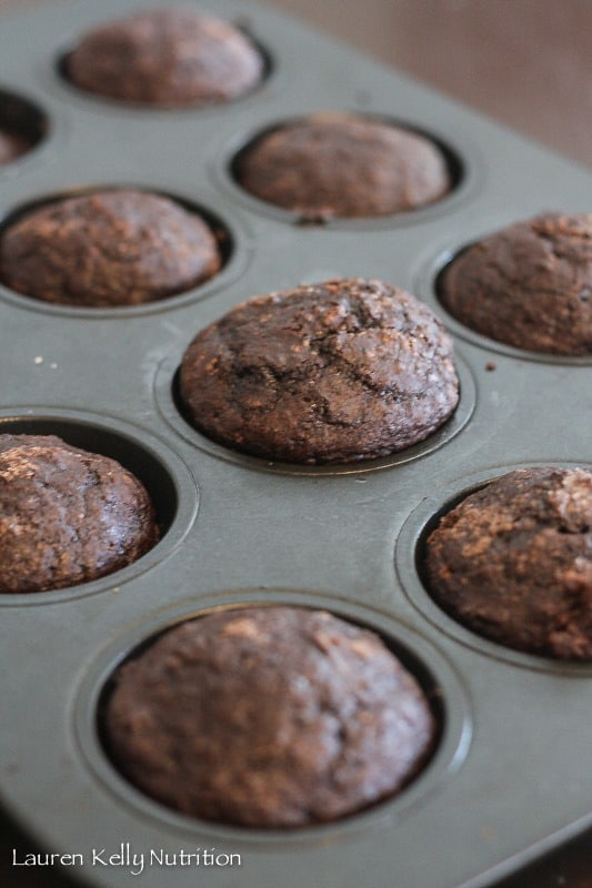 Double Chocolate Quinoa Muffins