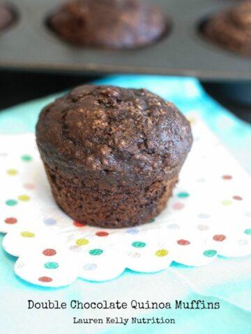 Double Chocolate Quinoa Muffins Lauren Kelly Nutrition