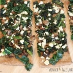 Grilled Spinach & Kale Goat Cheese Pizza