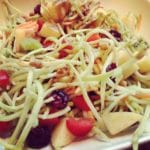 RAW Broccoli Slaw with Fruit, Veggies & Walnuts & CHIA Balsamic Vinaigrette