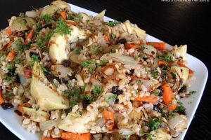 Artichoke Brown Rice Salad from the lovely Mia (Mia's Domain)