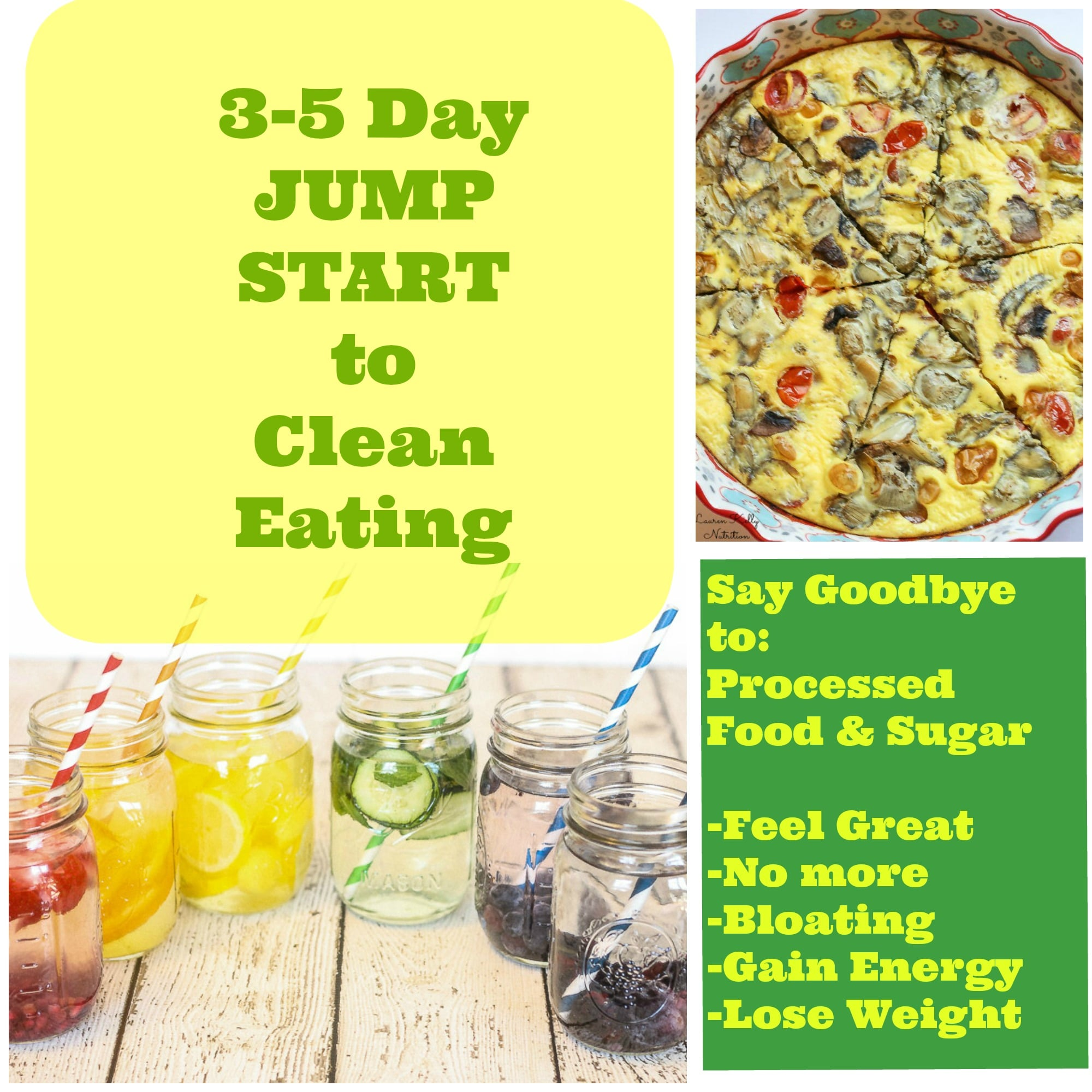 Three five day jump start to clean eating and grocery list 3 5 days to jump start into clean eating its so easy lose forumfinder Images