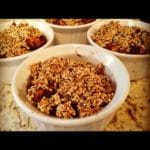Mini Apple Crisp with Quinoa Crumble Topping  *Gluten & Wheat-Free*