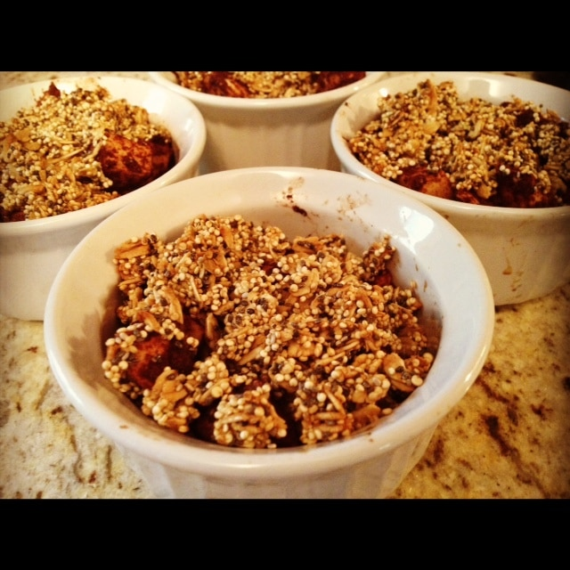 Of course my favorite part is the crumble topping (I mean, who doesn ...