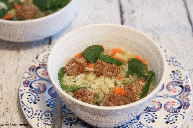 Healthier Italian Wedding Soup from Lauren Kelly Nutrition