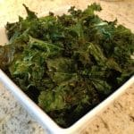 Asiago Kale Crisps with Toasted Pine Nuts