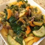 Sauteed Vegetables with Pumpkin Seed Pesto