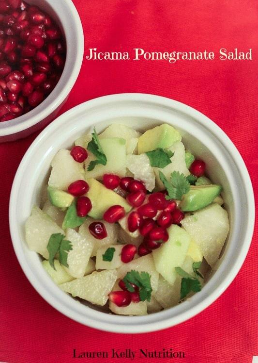 Jicama Pomegranate Avocado Salad from Lauren Kelly Nutrition