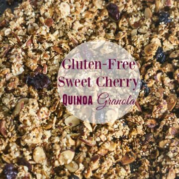 This Sweet Cherry Quinoa Granola is make with all wholesome ingredients! Gluten Free and vegan too! From Lauren Kelly Nutrition