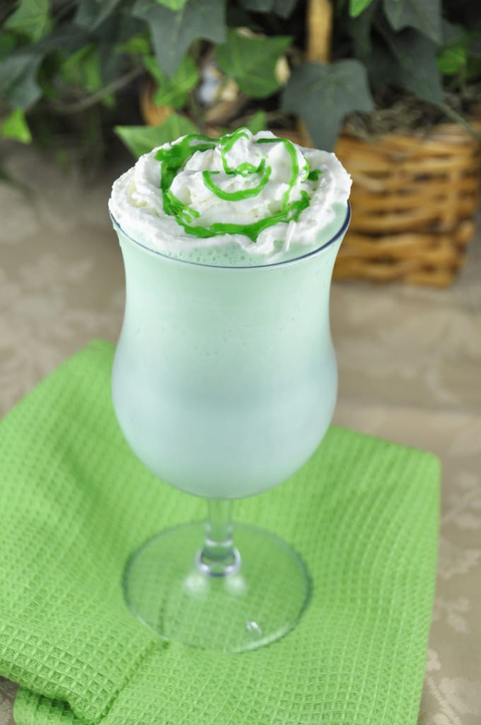 Homemade Shamrock Shake