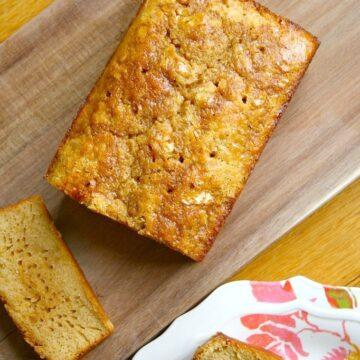 Gluten Free Glazed Lemon Pound Cake from Lauren Kelly Nutrition