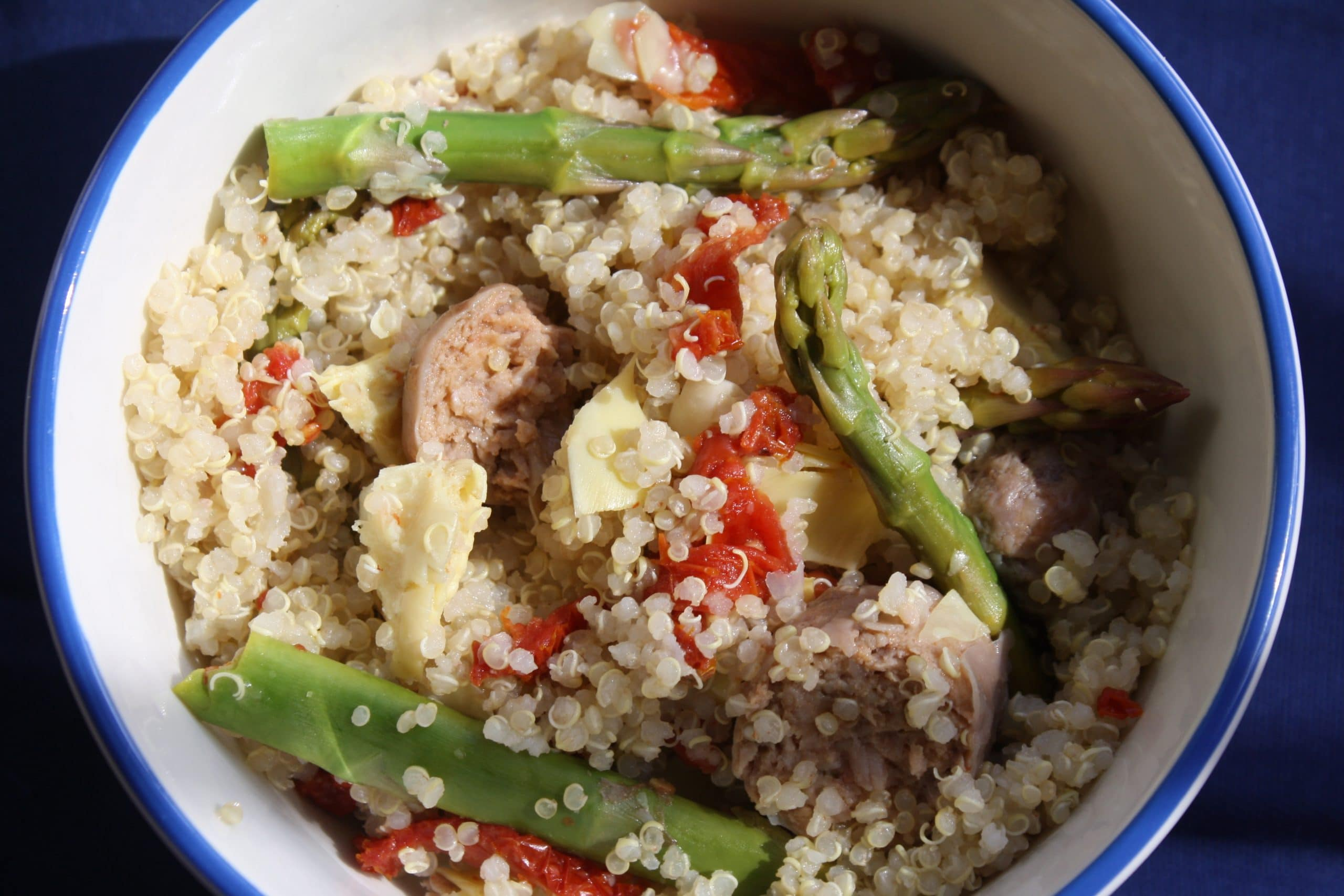 Tangy Sausage Quinoa Medley #glutenfree #easy Lauren Kelly Nutrition