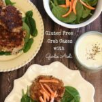 Gluten & Wheat-Free Crab Cakes with Garlic Aioli Dipping Sauce