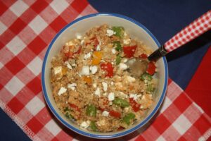 Quinoa Lentil Feta Salad - Lauren Kelly Nutrition