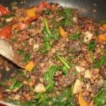 Vegan Lentil Spinach Medley