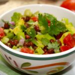 Green and Red Tomato Avocado Salsa