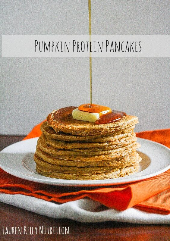 The Pumpkin Protein Pancakes are so delicious you will want to make them all year long! Lauren Kelly Nutrition