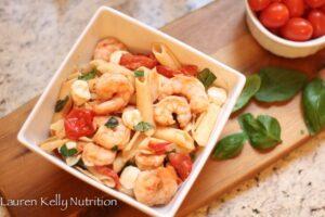 Gluten-Free Shrimp Caprese Pasta