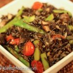 Asparagus and Mushroom Wild Rice