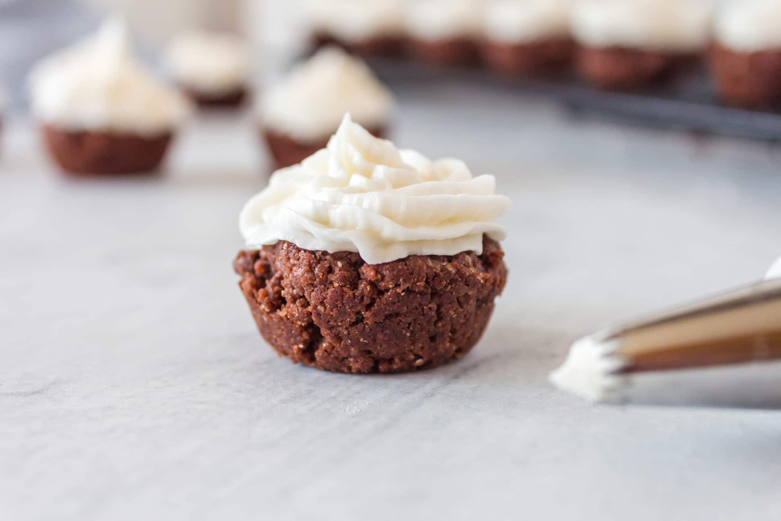 Naturally colored and super delicious, these Red Velvet Cookie Cups from Lauren Kelly Nutrition will be your new favorite holiday treat!