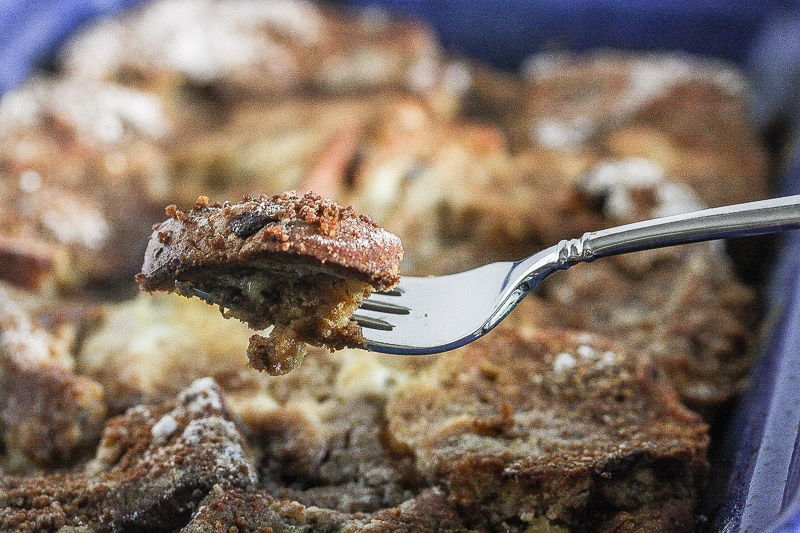 This Overnight French Toast Casserole takes minutes to prepare and can be made the night before! From The Greek Yogurt Cookbook by Lauren Kelly Nutrition
