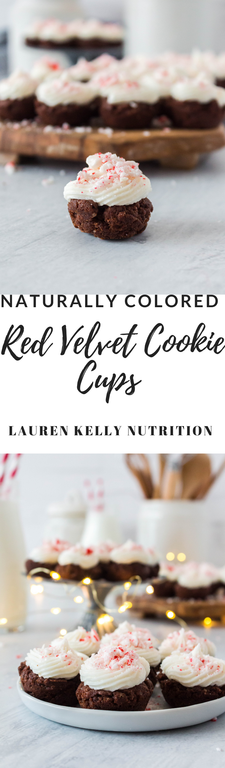 Naturally colored and super delicious, these Red Velvet Cookie Cups will be your new favorite holiday treat!