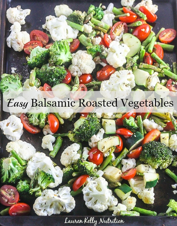 This my go-to recipe for the EASIEST Balsamic Roasted Vegetables! Super healthy, crunchy and delicious!