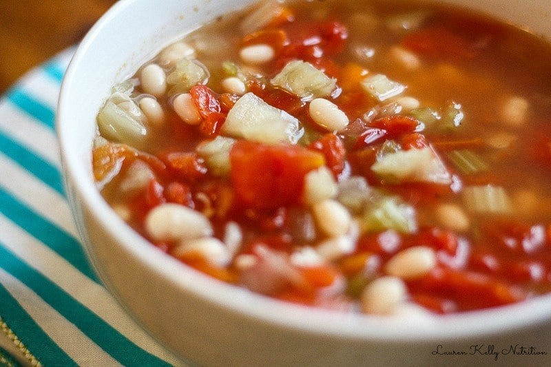 This White Bean Soup is my favorite, healthy comfort food. It's so easy to make and vegan! #CleanEating #SlowCooker