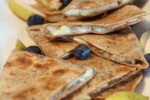 Easy Pear and Brie Quesadillas