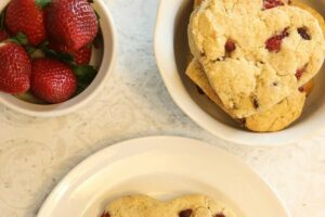 Gluten Free Strawberry Pomegranate Scones