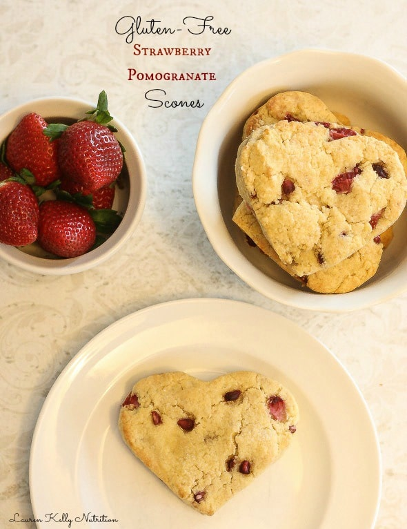 These Gluten Free Strawberry Pomegranate Scones are so simple to make and healthy!