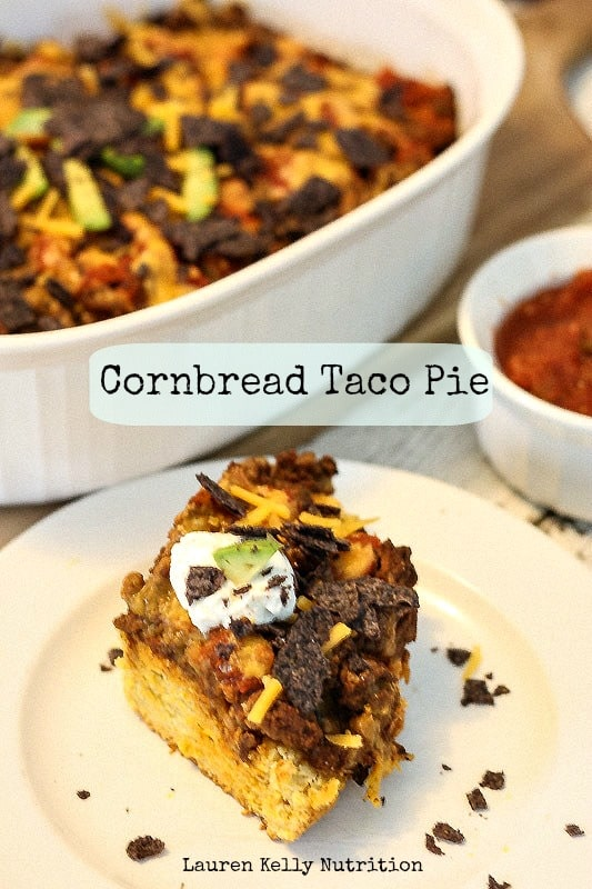 Gluten Free Cornbread Taco Pie, kids favorite! Everyone loves this!