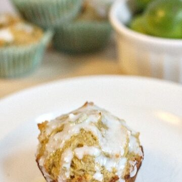 Glazed Key Lime Muffins