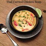 Slow Cooker Thai Curried Chicken Soup {Gluten Free, Low Carb, Keto}