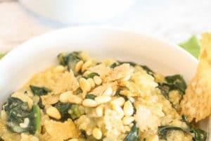 Apple Kale Risotto with Parmesan Crisps