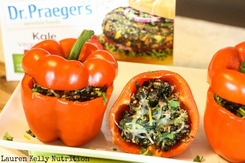 Kale Quinoa Stuffed Peppers - Lauren Kelly Nutrition