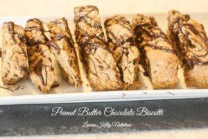 Peanut Butter Chocolate Biscotti