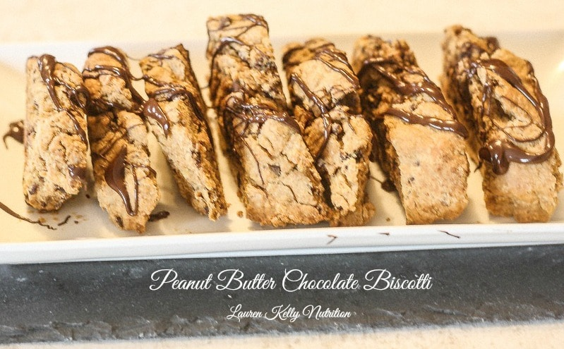Peanut Butter Chocolate Biscotti