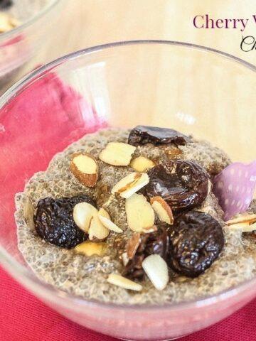 Cherry Vanilla Almond Chia Pudding - Lauren Kelly Nutrition