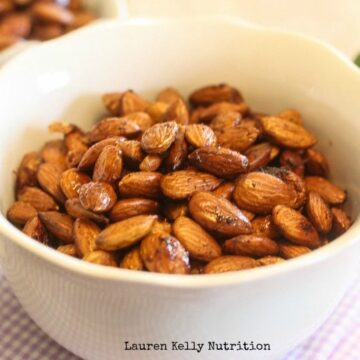 Chili Lime Roasted Almonds - Lauren Kelly Nutrition