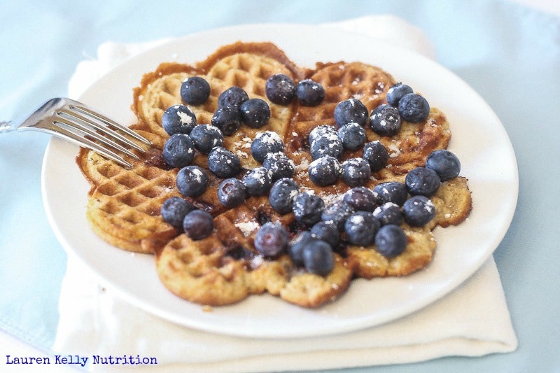 Coconut Blueberry Waffles - Lauren Kelly Nutrition