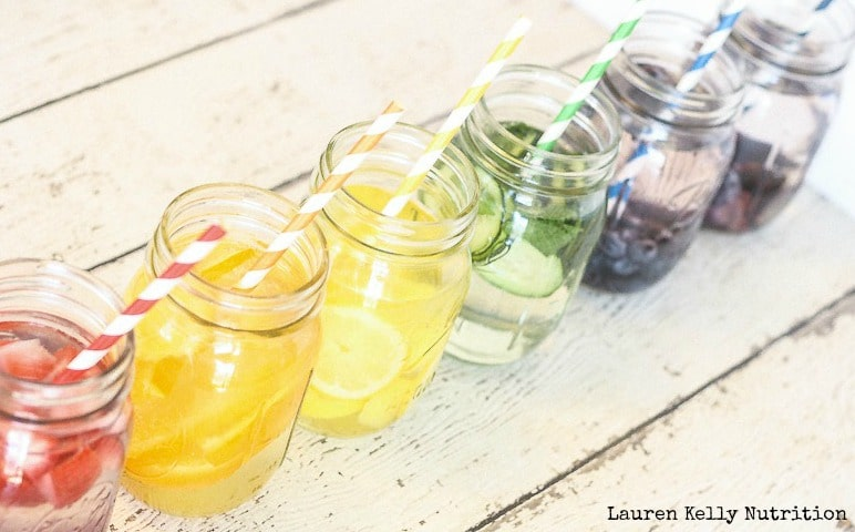 Naturally Flavored Infused Waters - Lauren Kelly Nutrition