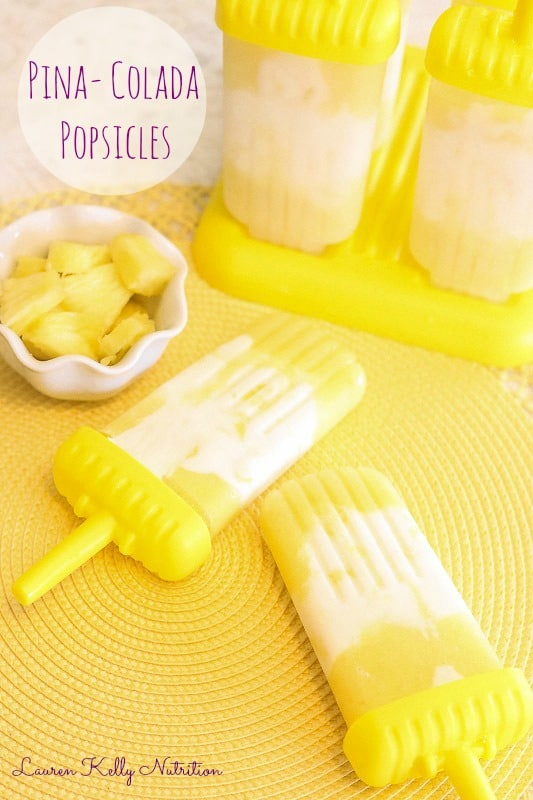 Pina Colada Popsicles - Lauren Kelly Nutrition